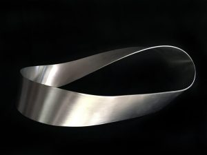 Stainless Steel Mobius Strip, One Zen Place Art Gallery, Vero Beach, Florida