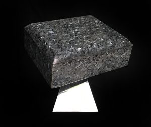 granite, stainless, polished, by Möbius the Sculptor, minimalism