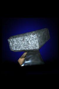 Polished granite rotating on a granite base. One Zen Place Art Gallery, Vero Beach, Florida